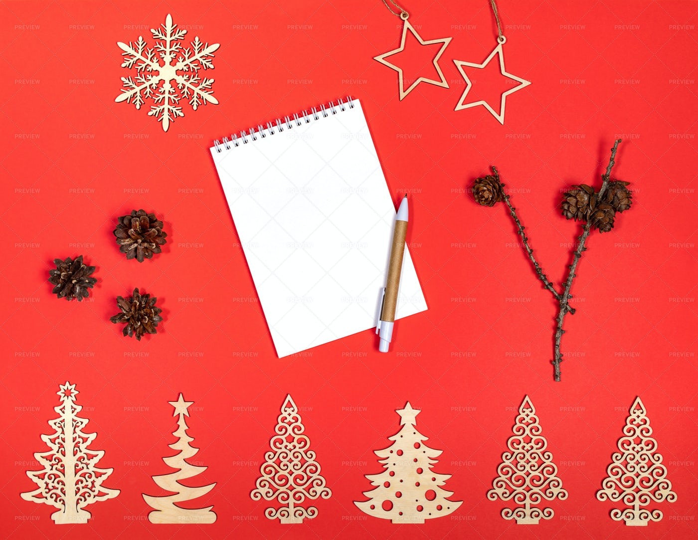 Festive Xmas Red Background.: Stock Photos