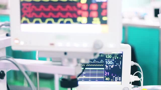 Medical Monitors In Hospital: Stock Video