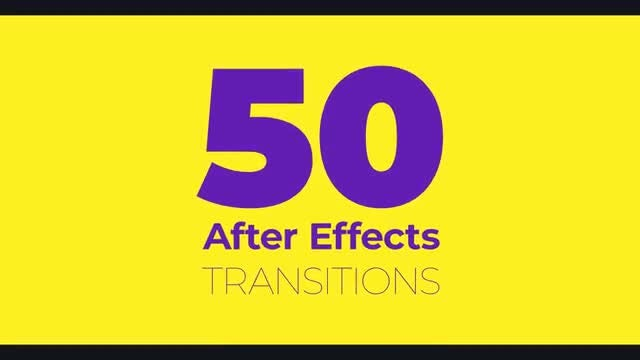 50 Transitions: After Effects Templates