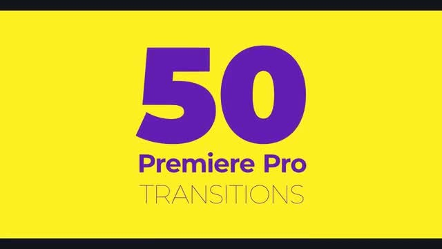 50 Transitions: Motion Graphics Templates
