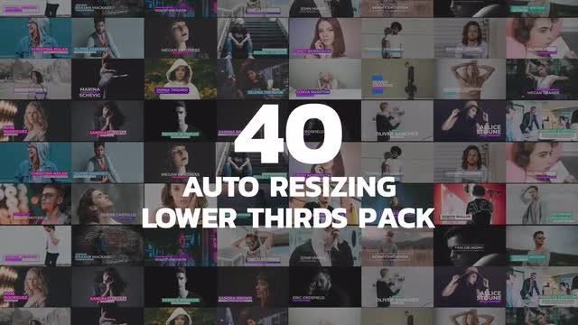 40 Auto Resizing Lower Thirds: Motion Graphics Templates