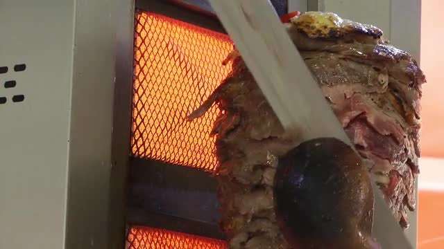 Kebab Meat Roaster : Stock Video