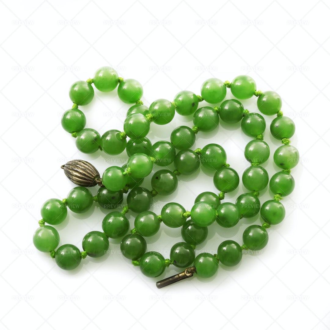 Green Stone Necklace: Stock Photos