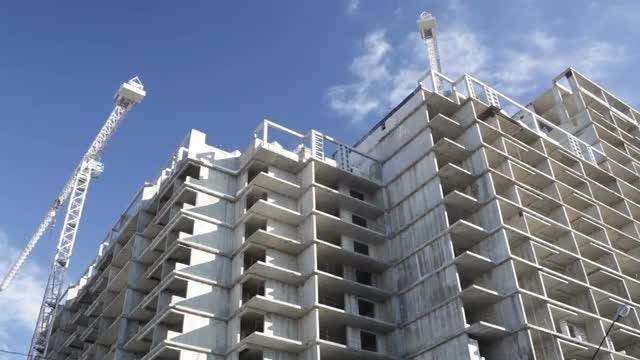 Partially Constructed Building Timelapse: Stock Video