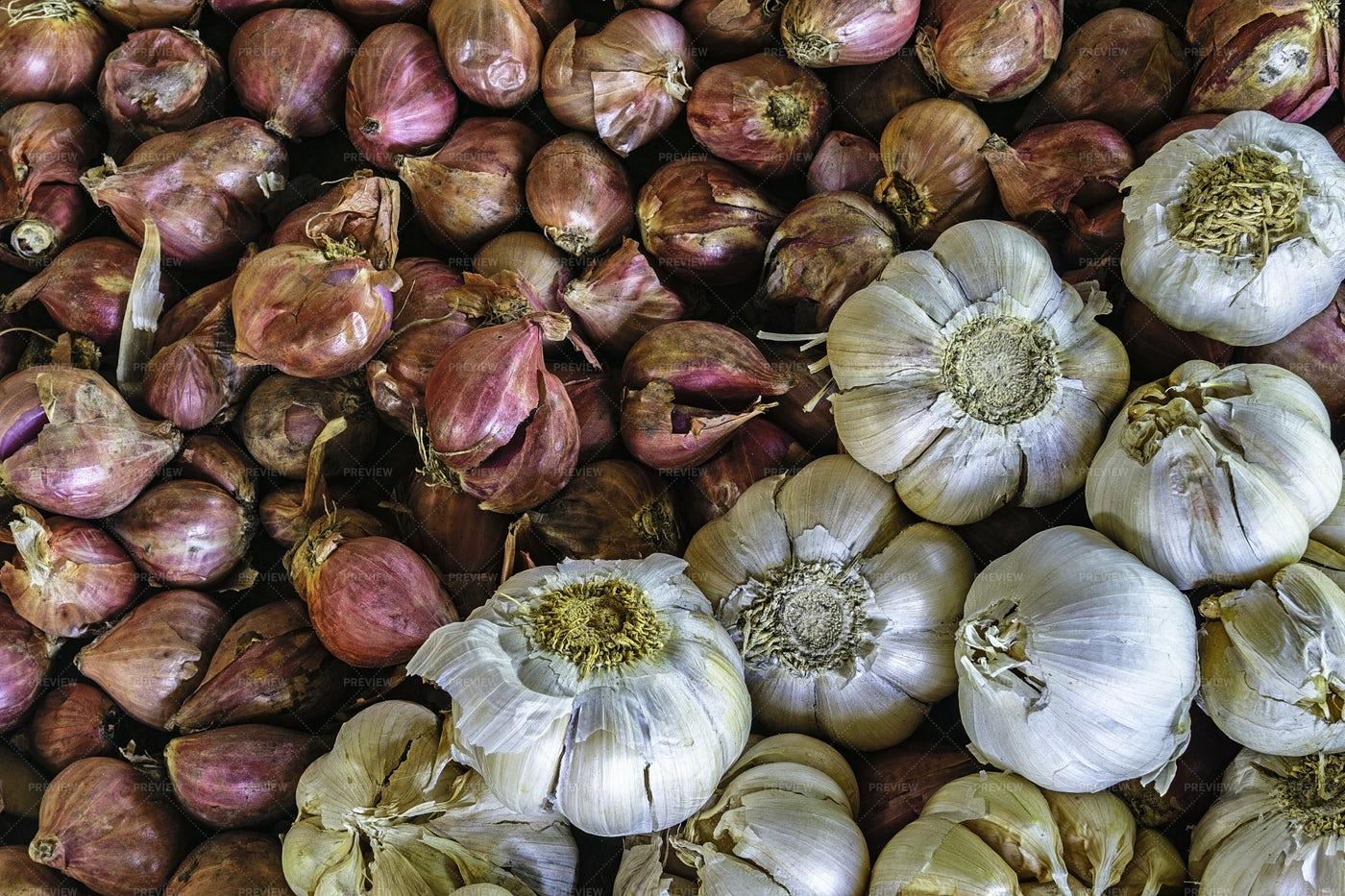 Onions And Garlic: Stock Photos