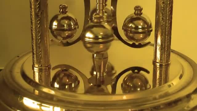 Mechanic Balls Of Old Clock: Stock Video