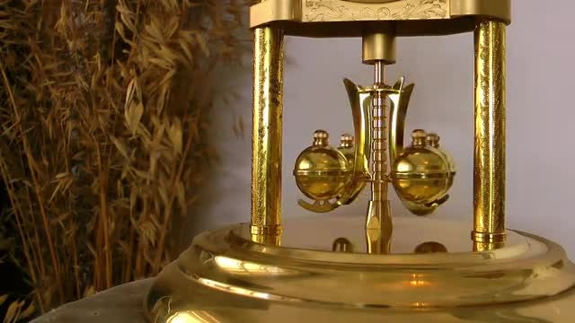 Mechanic Balls Of Antique Clock: Stock Video