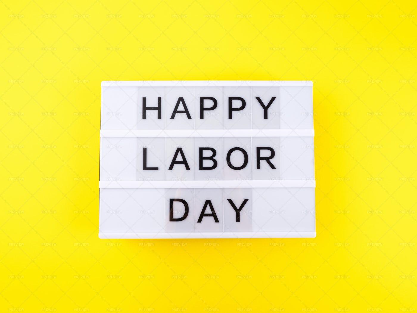 Happy Labor Day Sign: Stock Photos