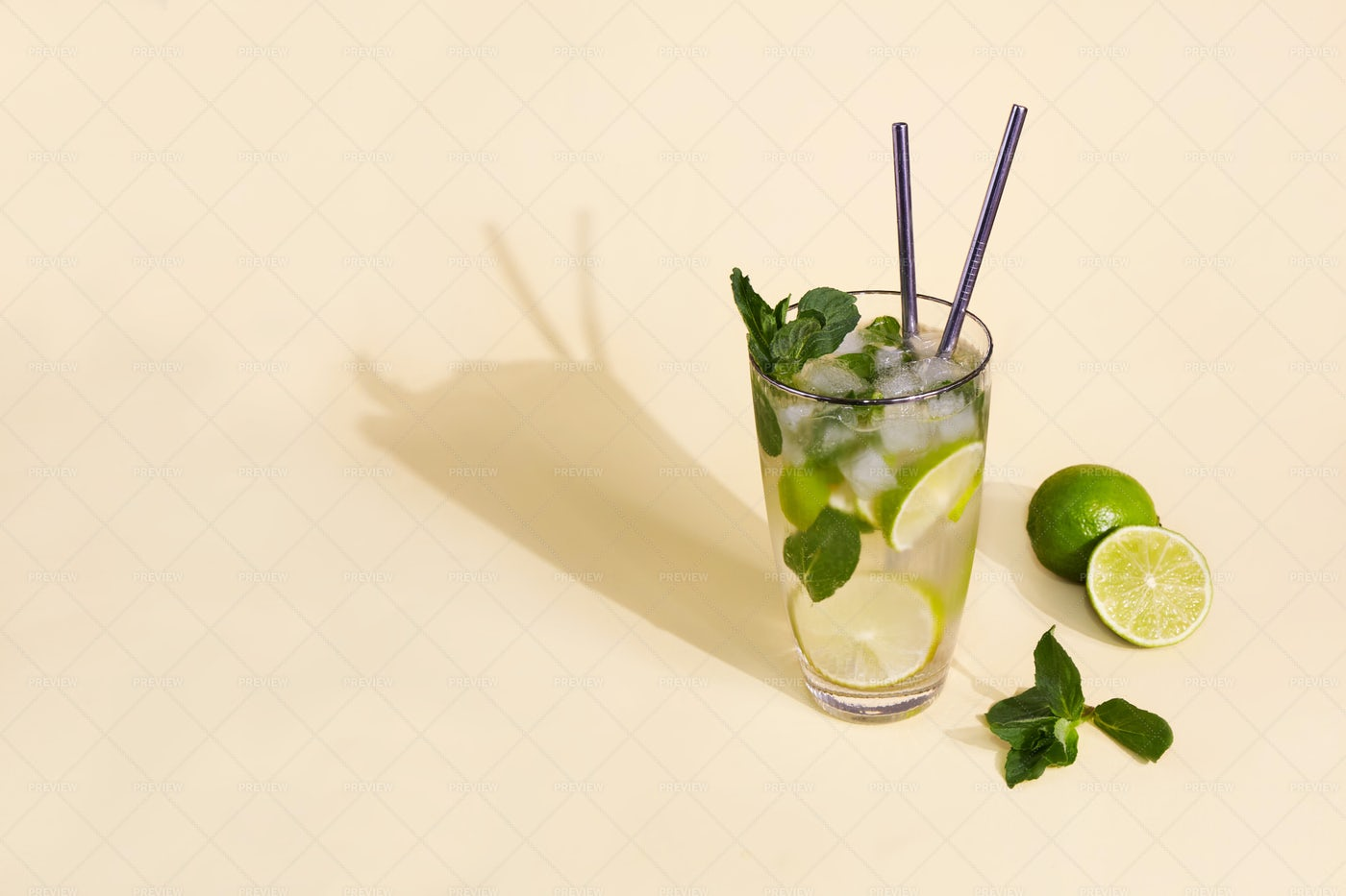Glass With Mojito: Stock Photos