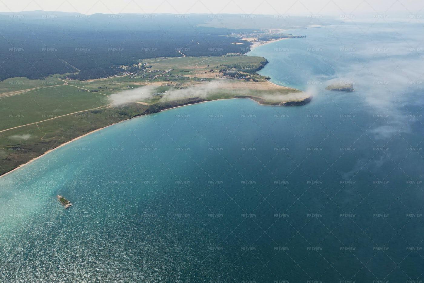 Lake Baikal From The Air: Stock Photos