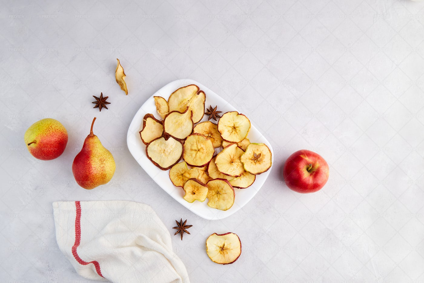Dried Apples And Pears: Stock Photos