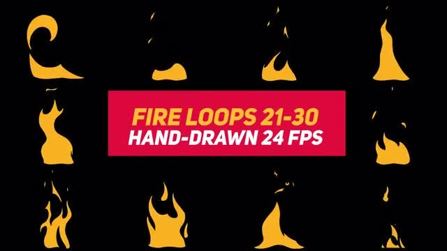 Liquid Elements 3 Fire Loops 21-30: Stock Motion Graphics
