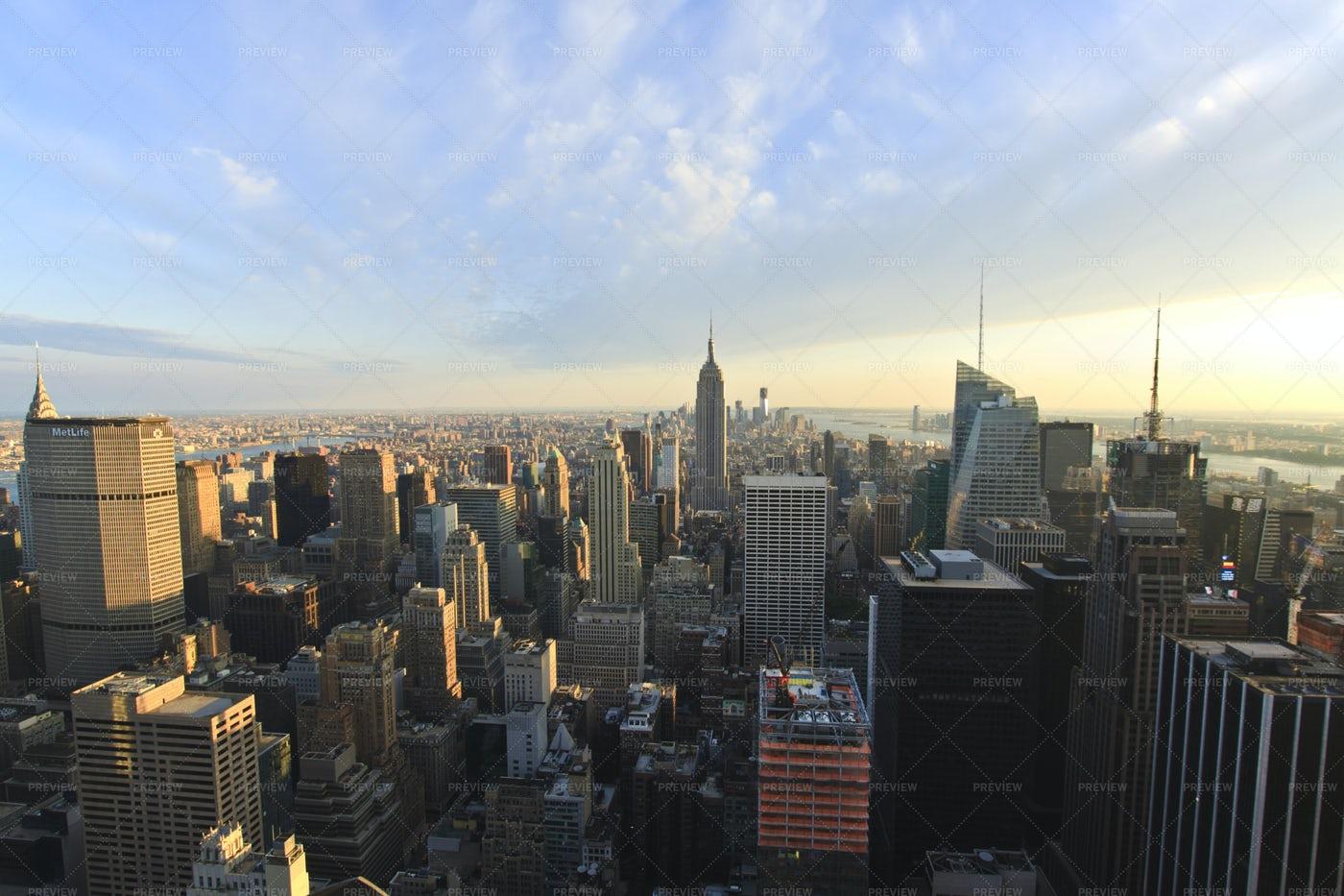 Panorama View Of New York City: Stock Photos