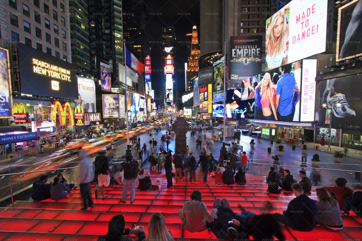 Times Square By Night: Stock Photos