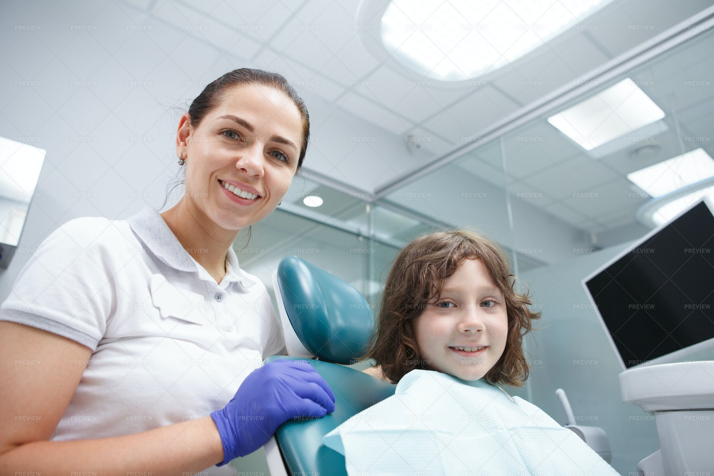 Dentist And Young Patient: Stock Photos