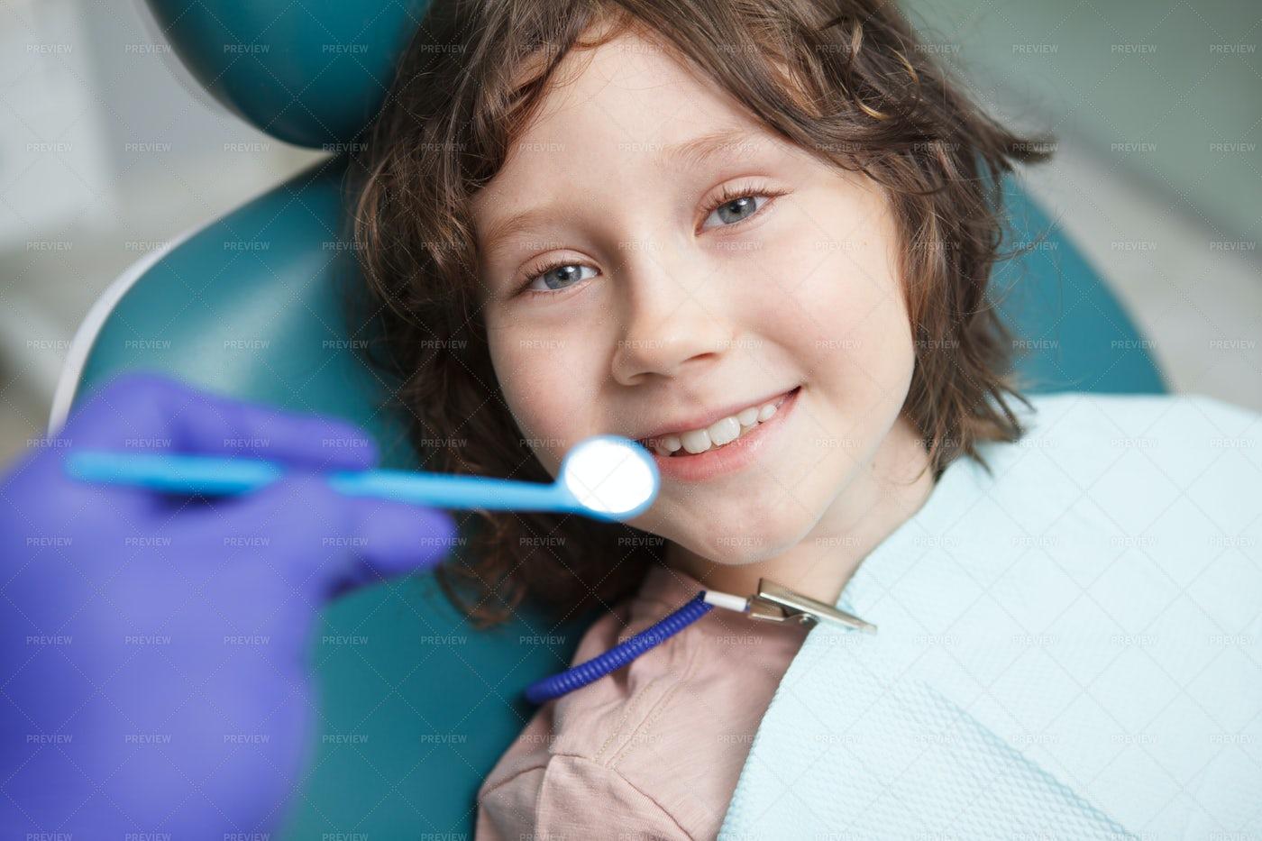 Teeth Checkup For Boy: Stock Photos