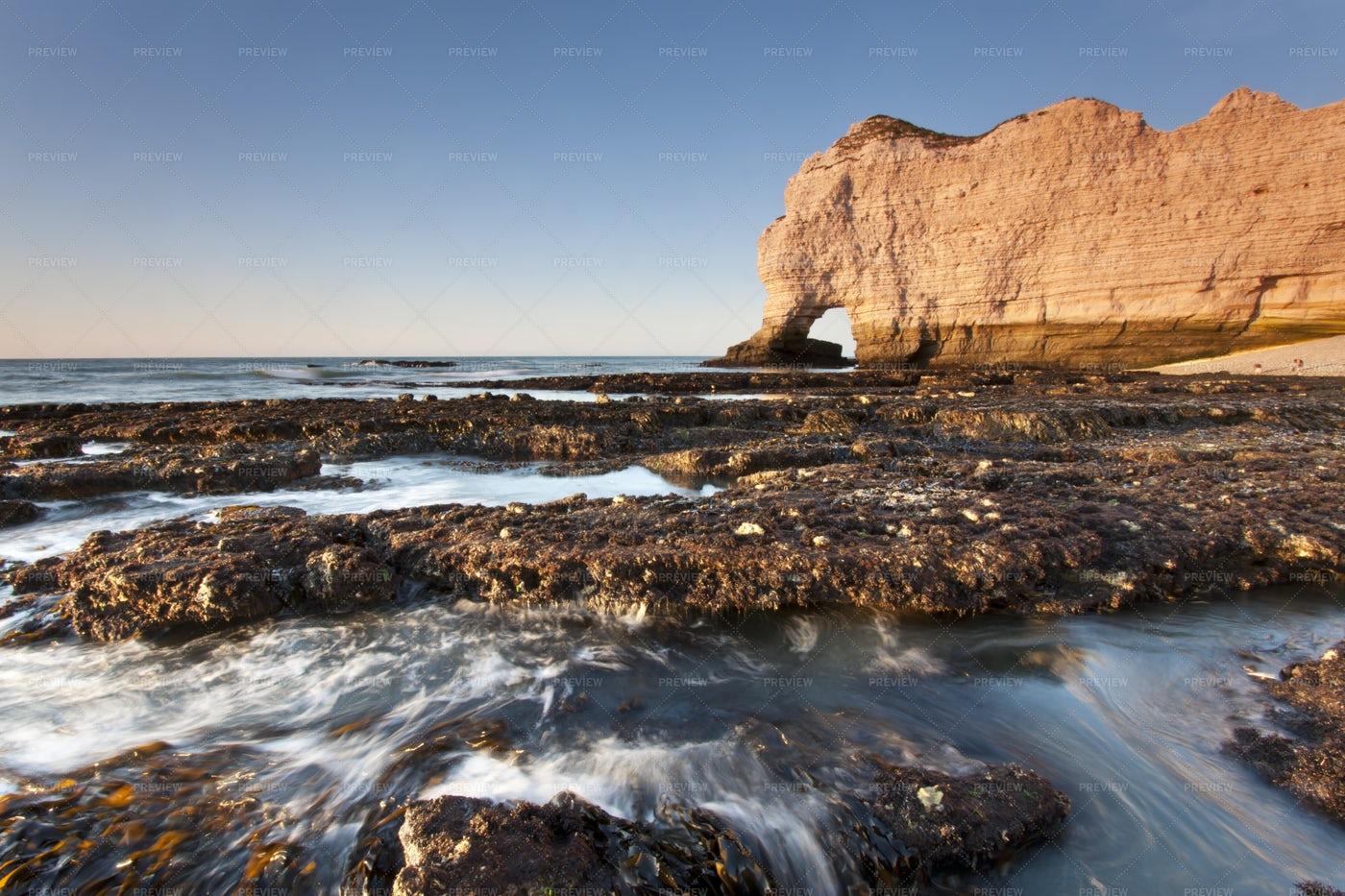 Cliffs Of Etretat: Stock Photos
