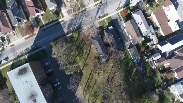 Autumn Aerial Over Apartments & Houses: Stock Video