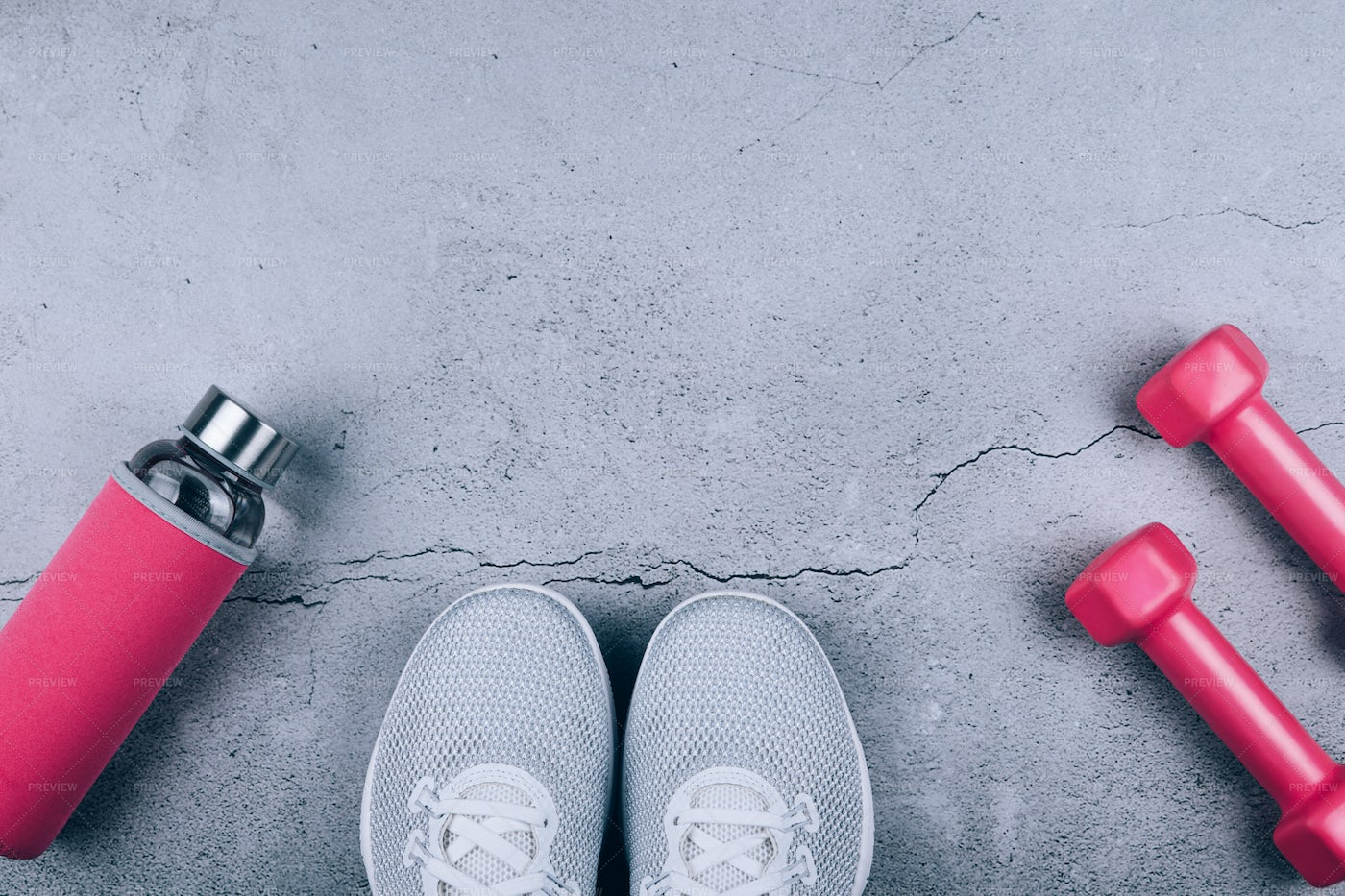 Sport Shoes And Sporty Items: Stock Photos
