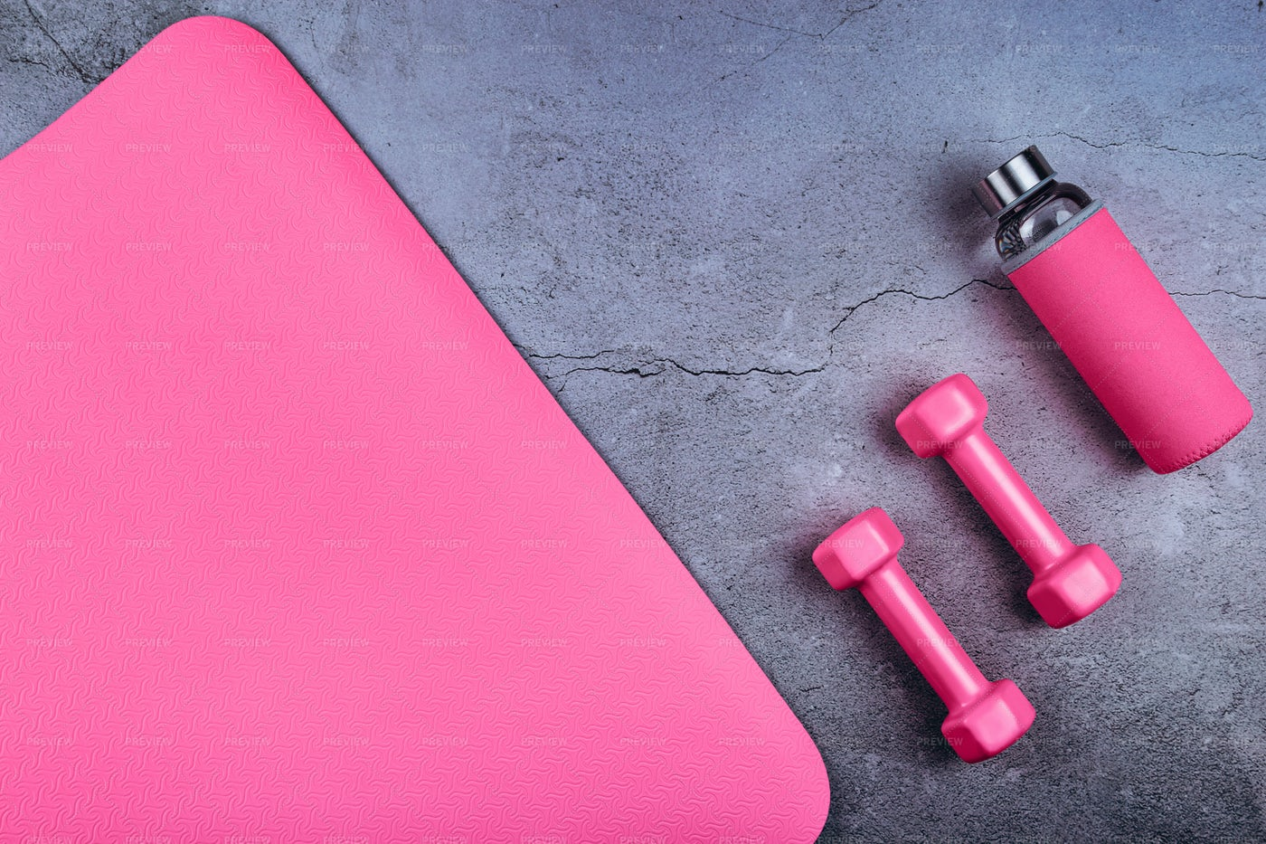Set For Fitness Practice: Stock Photos