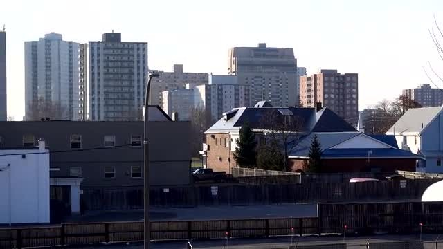 Panning Shot Of City Buildings : Stock Video