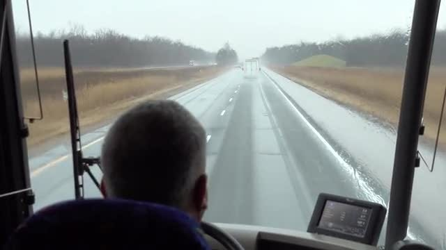 Driver Driving On Rainy Day: Stock Video