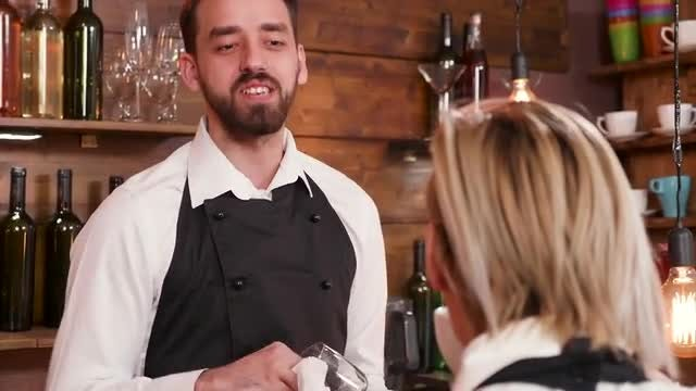 Baristas Talking After Work: Stock Video