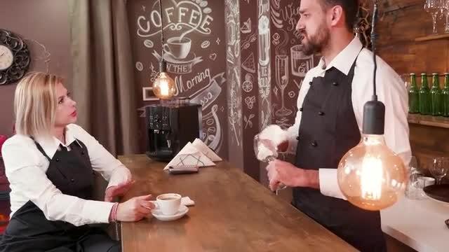 Baristas Talking: Stock Video