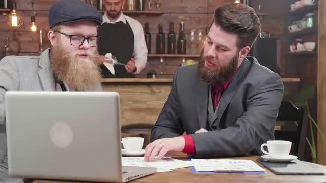 Businessmen Drink Coffee: Stock Video