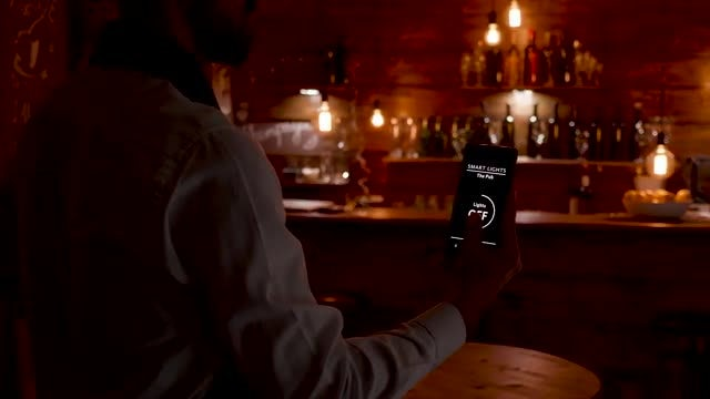 Smart Lights In A Pub: Stock Video