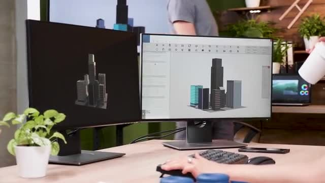 Modeling Building In 3D: Stock Video