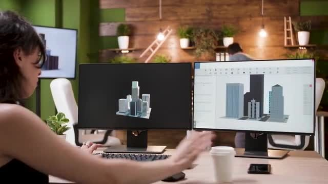 Animator Designs Buildings: Stock Video