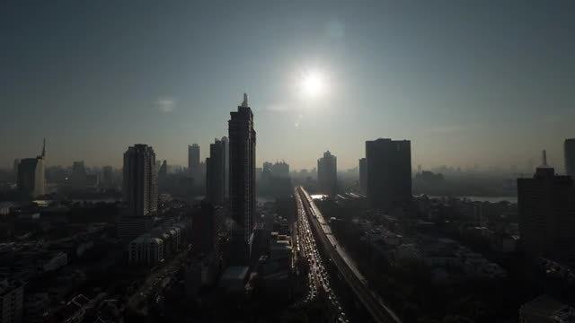 Dawn Over Bangkok: Stock Video