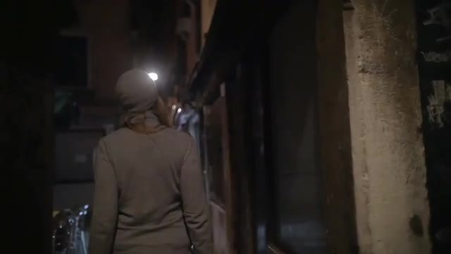 Wandering In Dark Alleyway: Stock Video