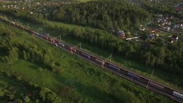 Trains Through The Countryside: Stock Video