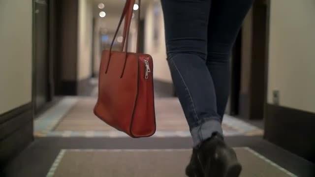 Walking In Hallway: Stock Video