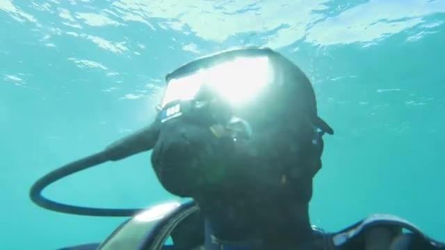 Scuba Diver Breathing: Stock Video