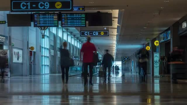 Tel Aviv Airport: Stock Video