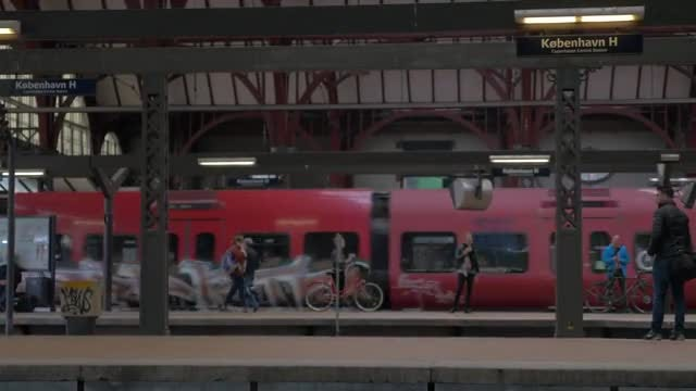 Copenhagen Central Station: Stock Video