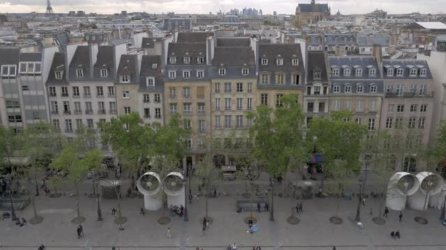 Paris From Pompidou Centre: Stock Video