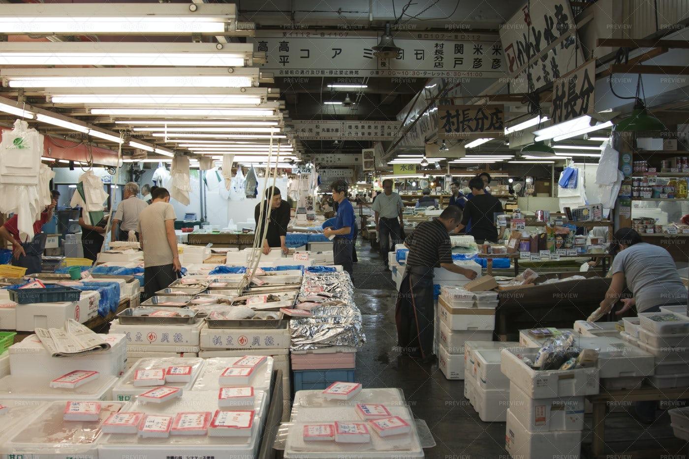 Tokyo Fishmarket - Tsukiji: Stock Photos