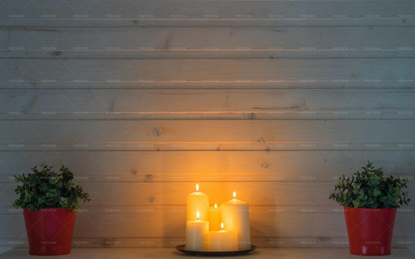 Cozy Evening Home Interior: Stock Photos