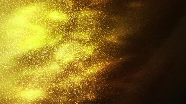 Gold Particles Flowing Abstract Background: Stock Motion Graphics