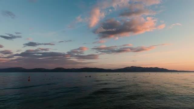Relaxing Ocean Sunset Scene: Stock Video