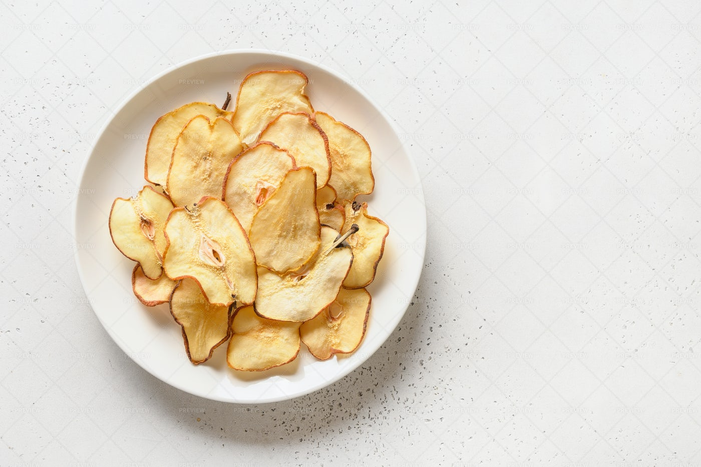 Fruits Pear Chips: Stock Photos