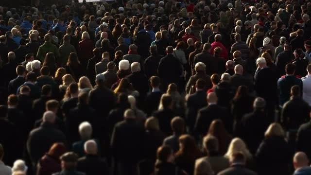 Large Crowd Of Mixed Demographics: Stock Video