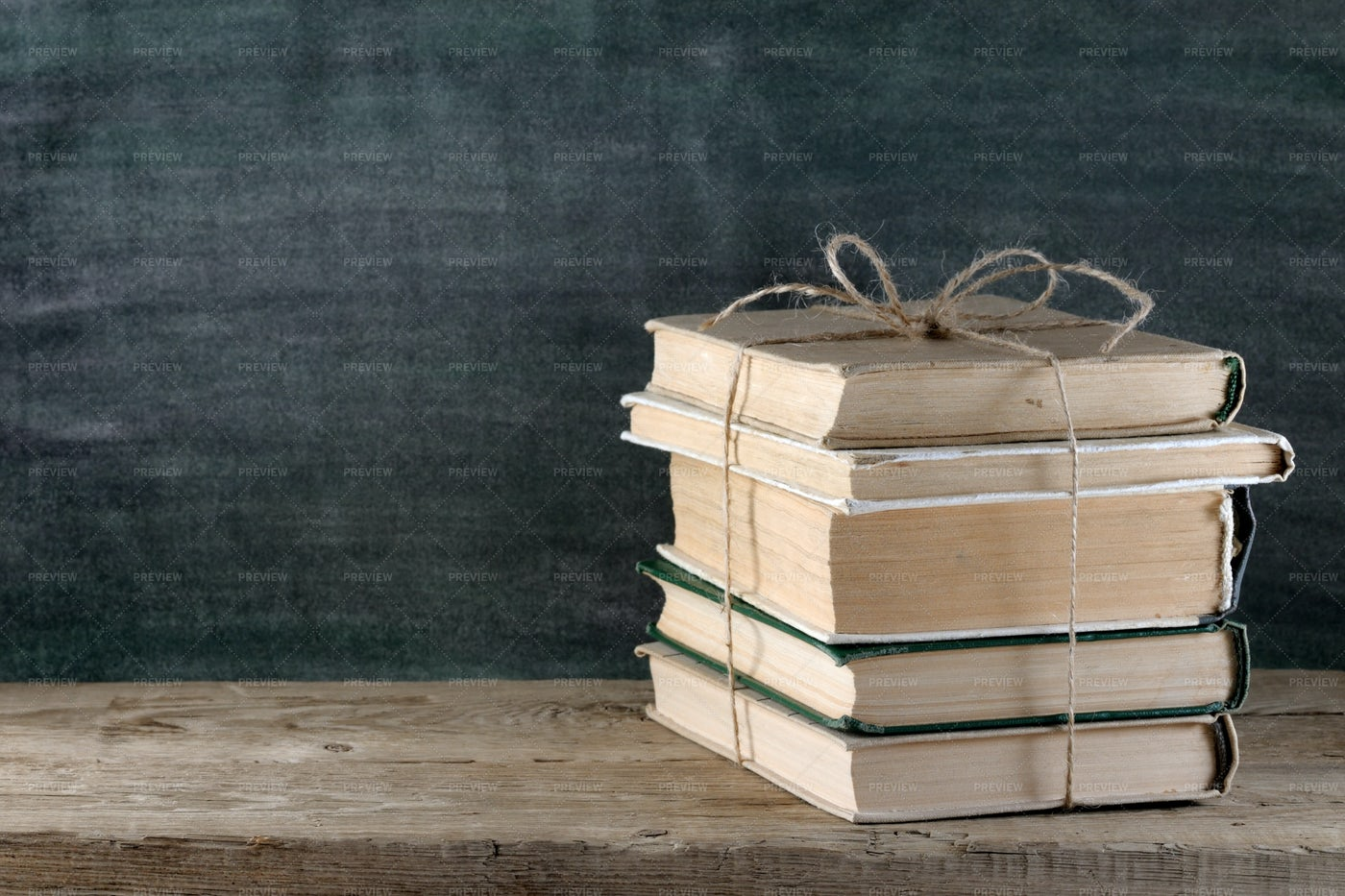 Old Books On Wooden Table: Stock Photos