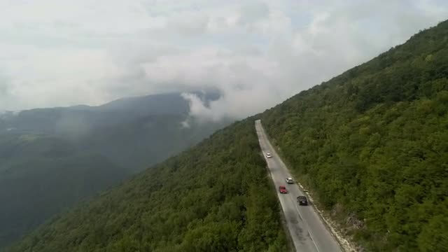Fast Drive On Mountain Road: Stock Video