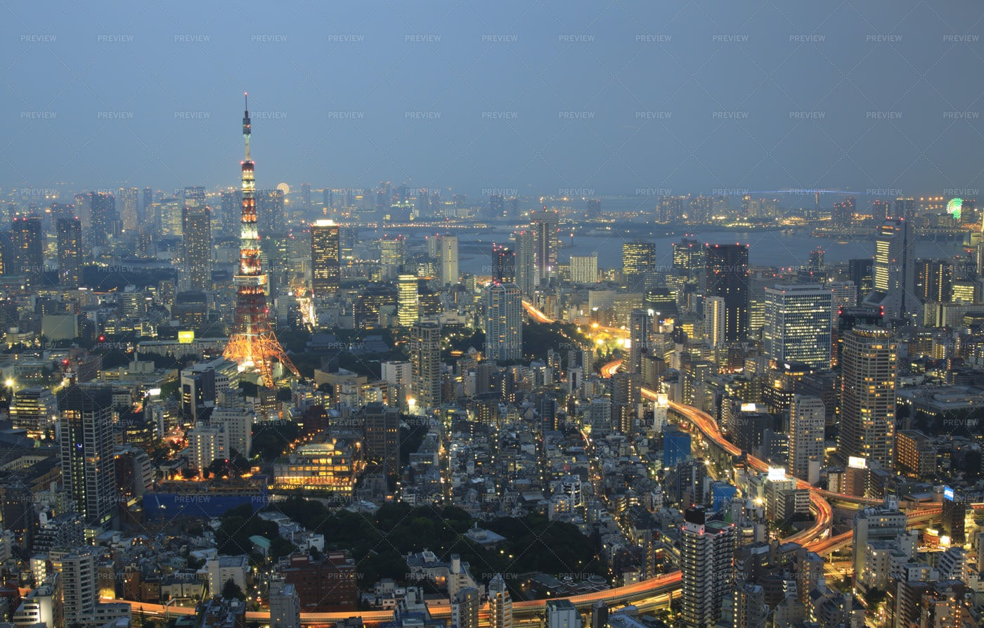 Aerial View Of Tokyo: Stock Photos