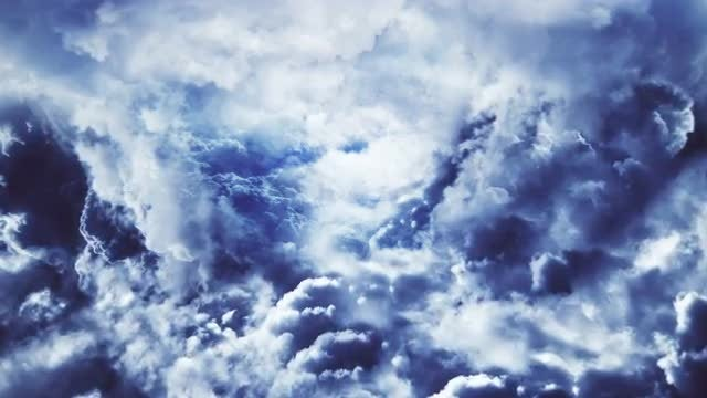 Flying Through Abstract Clouds: Stock Motion Graphics